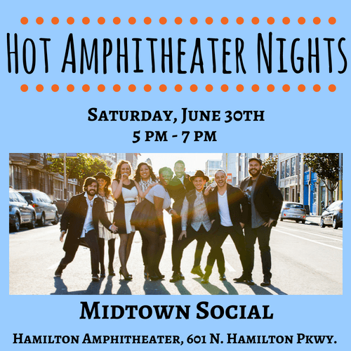 hot amphitheater nights, midtown social, hamilton amphitheater, novato, 2018, music
